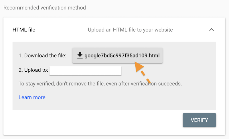 google search console, google search console verification code