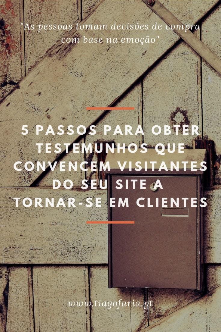 testemunhos, como obter testemunhos, testemunhos de clientes, depoimentos de clientes, depoimentos