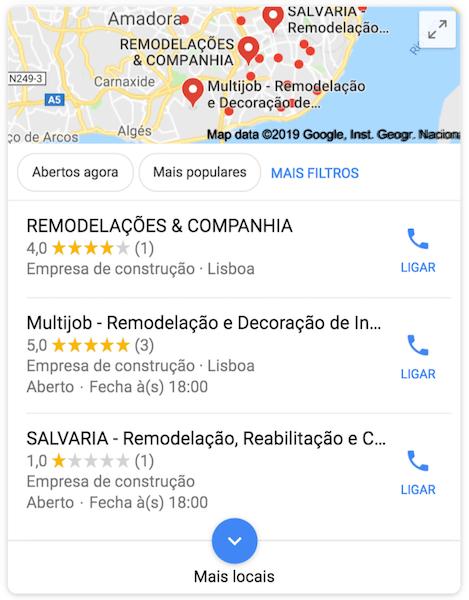 classificações google maps, google maps, comentários google maps