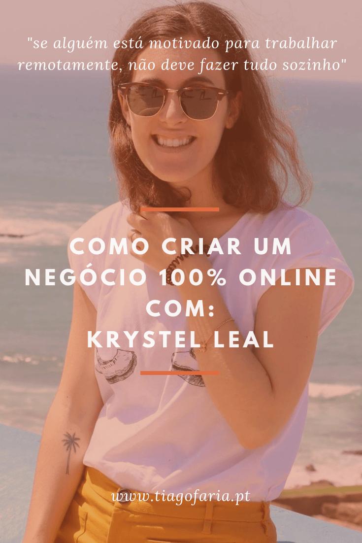 como criar um negocio 100% online com krystel leal