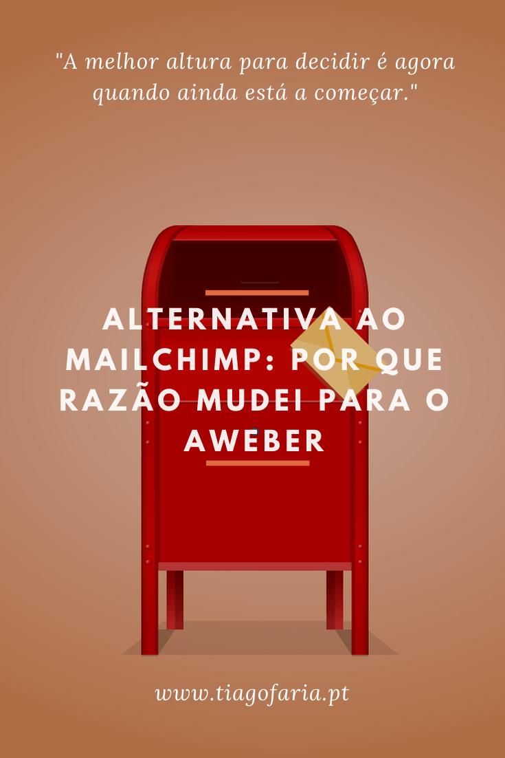 Alternativa ao Mailchimp - Por que razão mudei para o Aweber